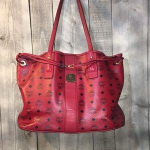 MCM Medium Visetos Shopper Tote Bag